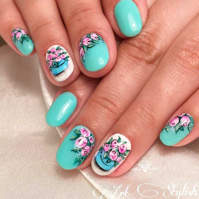 Sweet Flower Nail Art picture 3