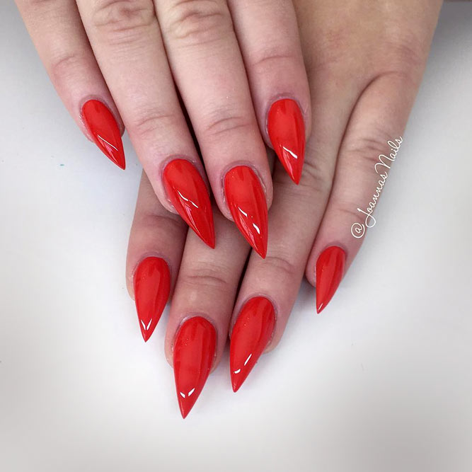 Luxury Natural Looking Stiletto Nails Inspiration - Nail Art Design ...
