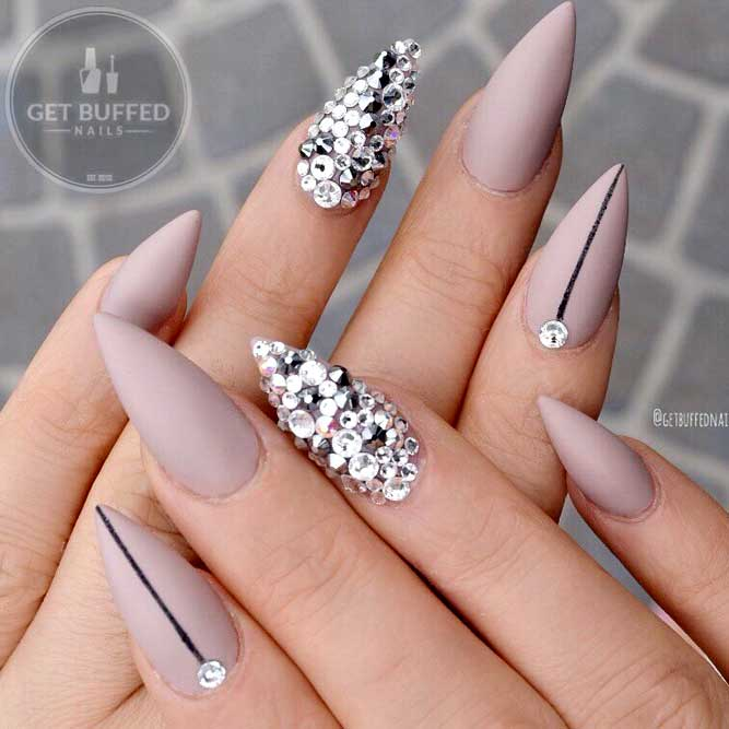 Fake Nails Way To Do Stiletto Nails Matte Violet