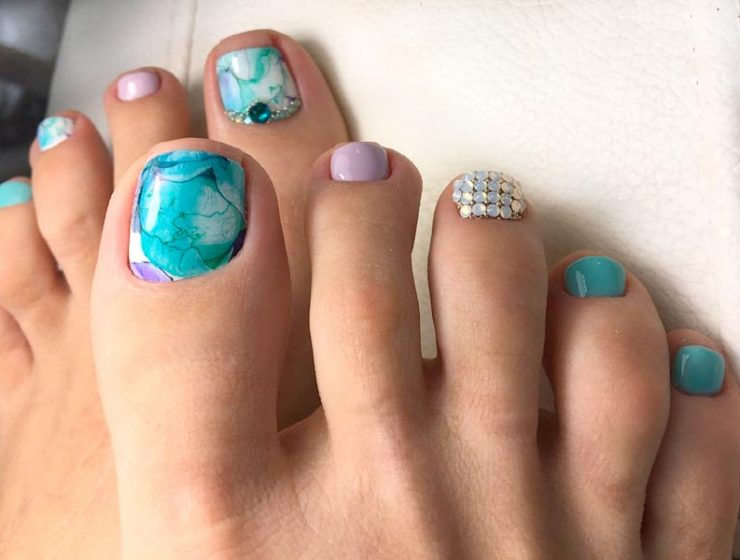 Toe nails archives nail designs 27 beautiful nail designs for toes prinsesfo Choice Image