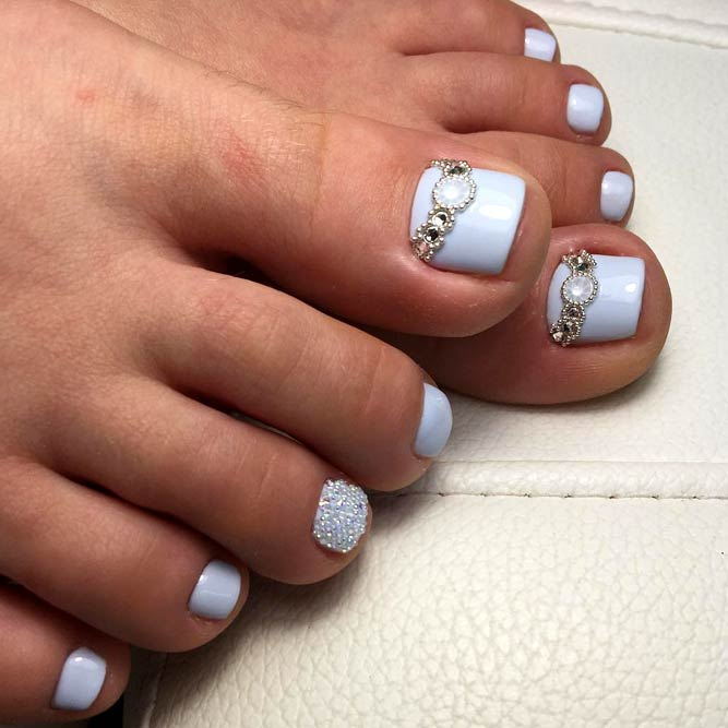 Best Designs For Toe Nails #bluenails #toedesign #nailsart