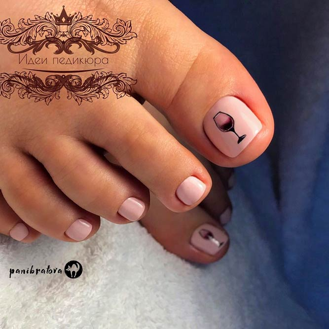 Pretty Nail Designs For Toes #nudenails #toedesign #nailsart