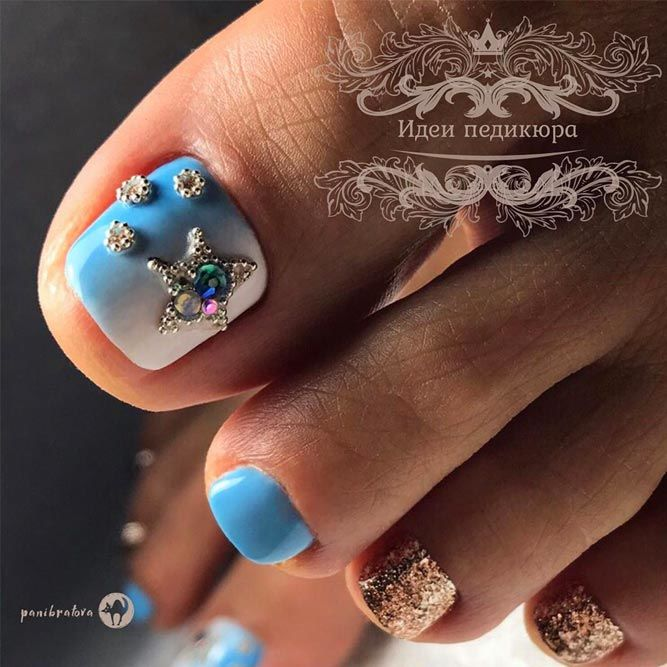 Summer Nail Designs With Glitter Accents