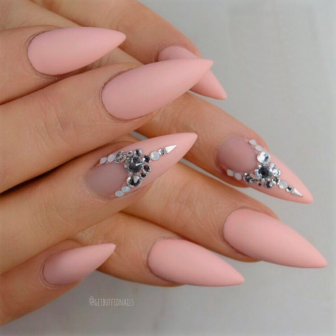 Matte Blush Nail Designs picture 3