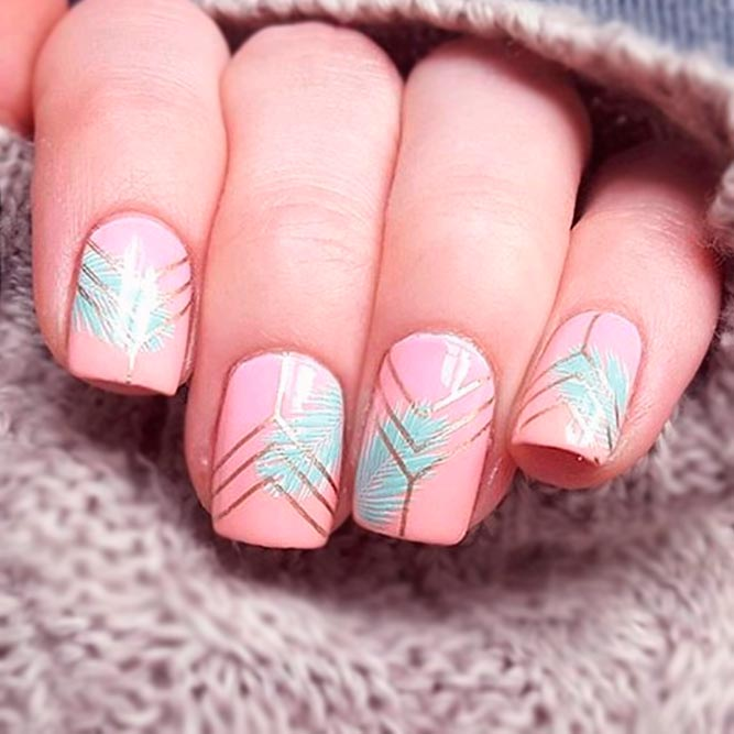 Cool Blush Nails Design Ideas picture 3