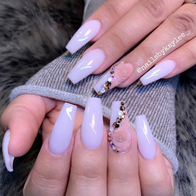 Elegant Mani for Coffin Nails picture 2