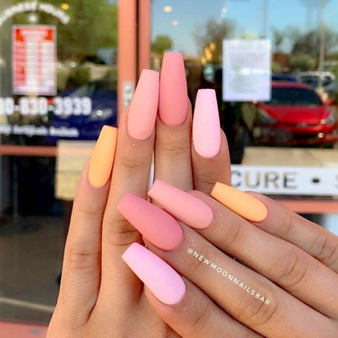 Full Ombre With Pink Colors