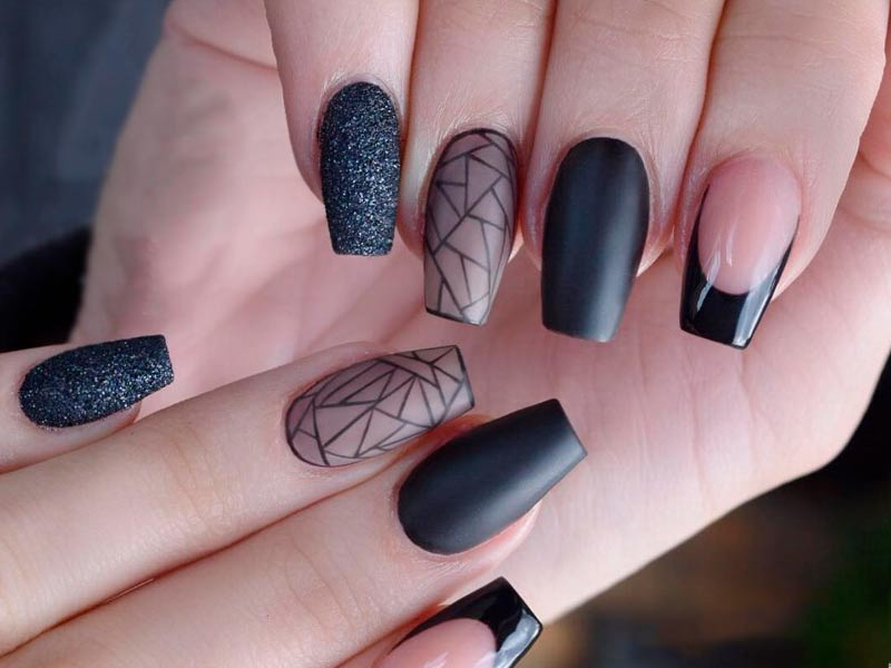 Coffin Gel Nail Designs | Best Nail Designs 2018