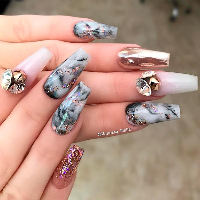 Trendy Nail Art Ideas for Coffin Nails picture 3