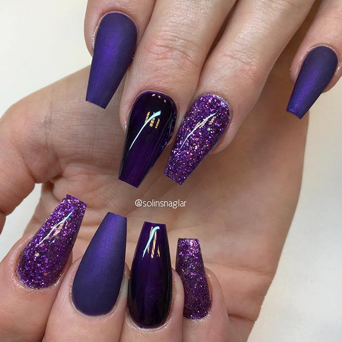 Coffin Tip Nails For Every Taste | NailDesignsJournal.com