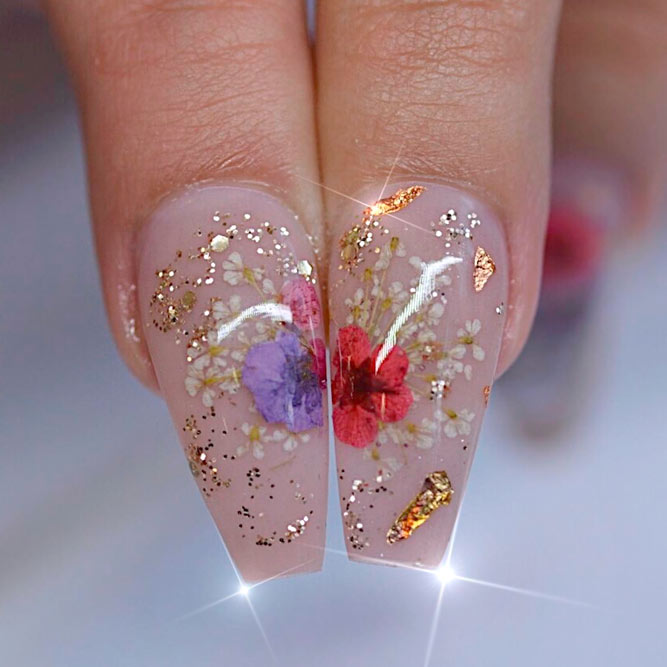 Trendy Nail Art Ideas for Coffin Nails picture 2