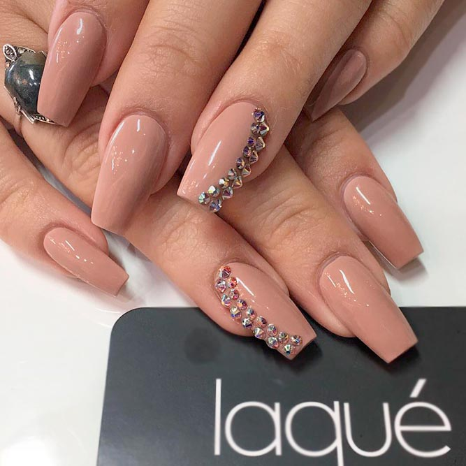 Nude Color with Coffin Nails picture 3