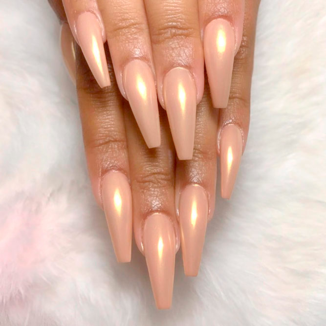 Nude Color with Coffin Nails picture 1
