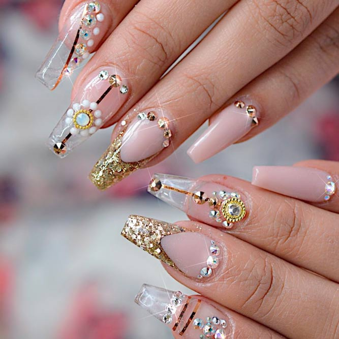 Colored Coffin Tip Nails Designs picture 2