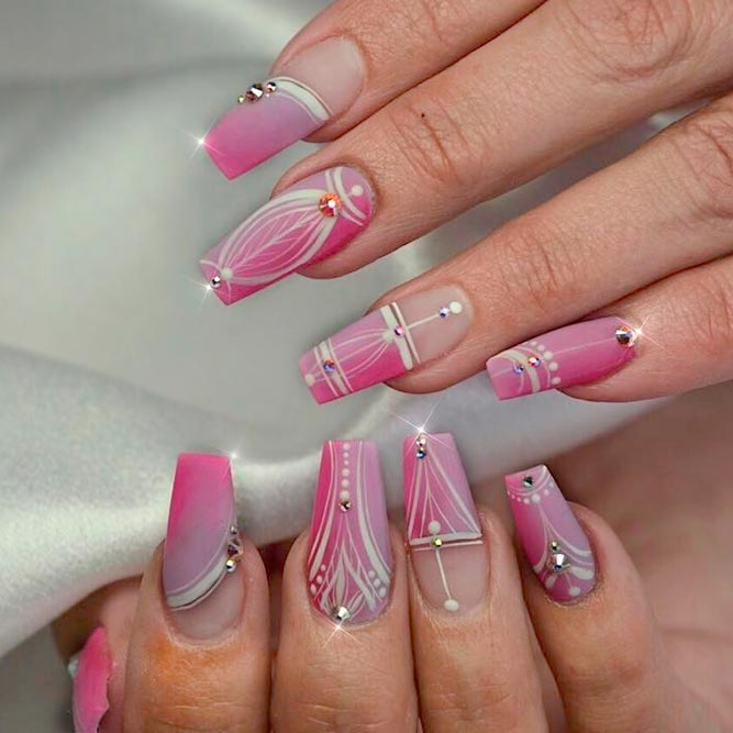 Coffin Nails with Rhinestones picture 3