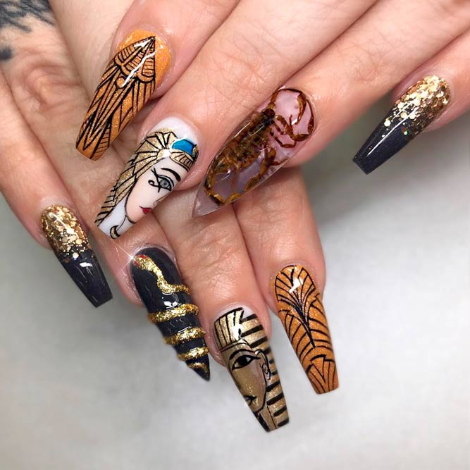 Fresh Ideas Long Coffin Nails picture 2
