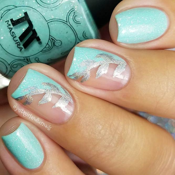 Cute Baby Blue Nail Designs picture 2