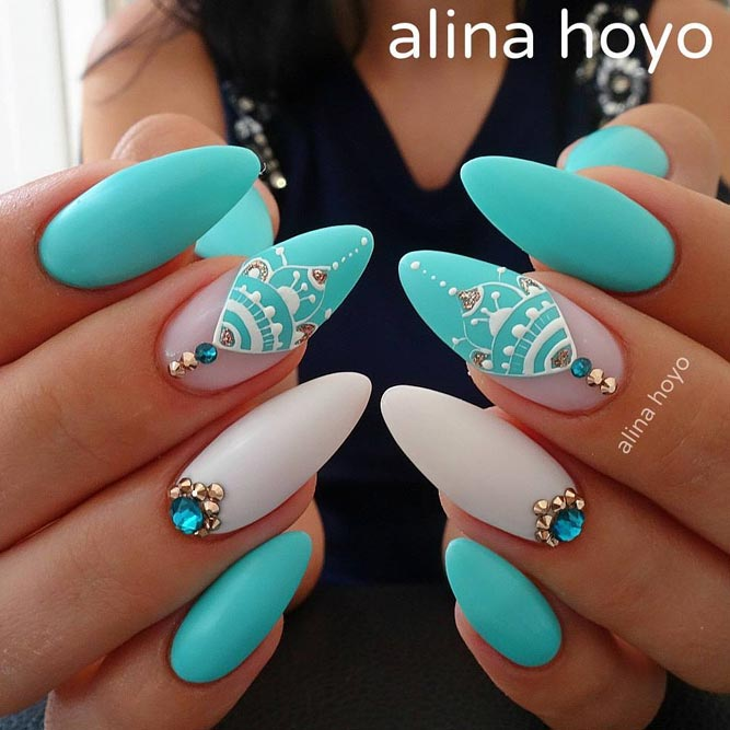Cute Baby Blue Nail Designs picture 3
