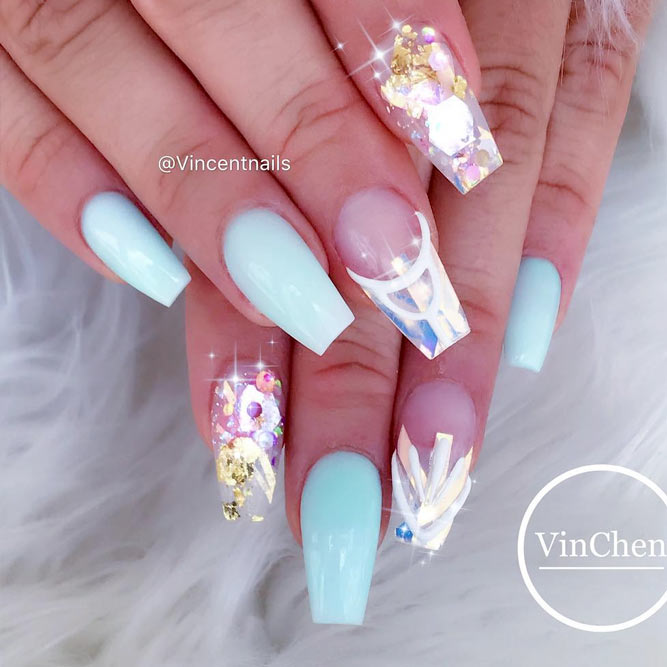 Cute Baby Blue Nail Designs picture 1