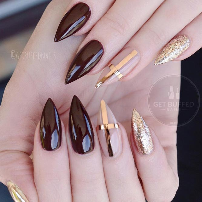 Gold Color Nails Luxury Accents picture 3