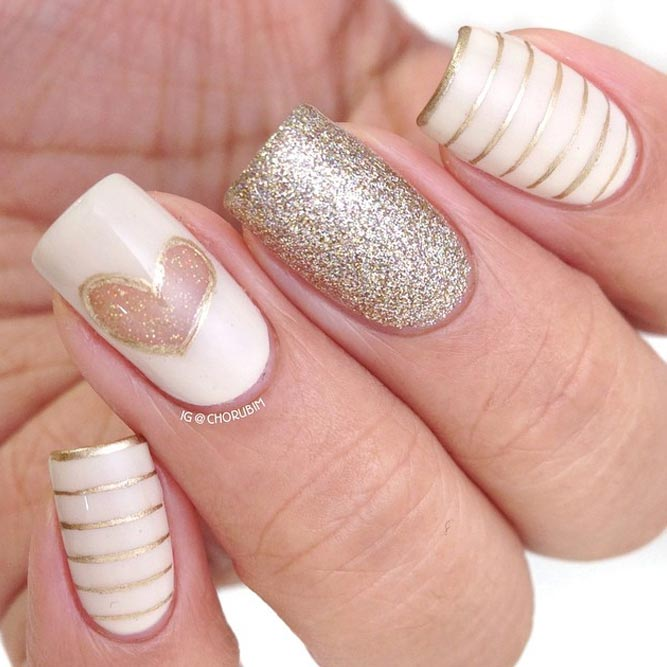 Gold Color Nails Luxury Accents picture 1
