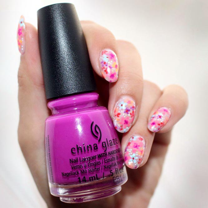 Bright Colorful Floral Mani #ovalnails #colorfulnails #flowernails
