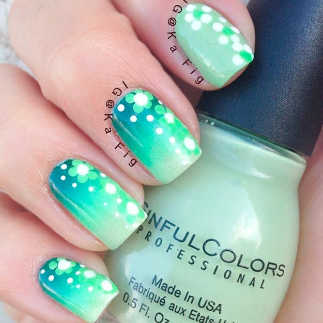 Ombre Polka Dot Flowers