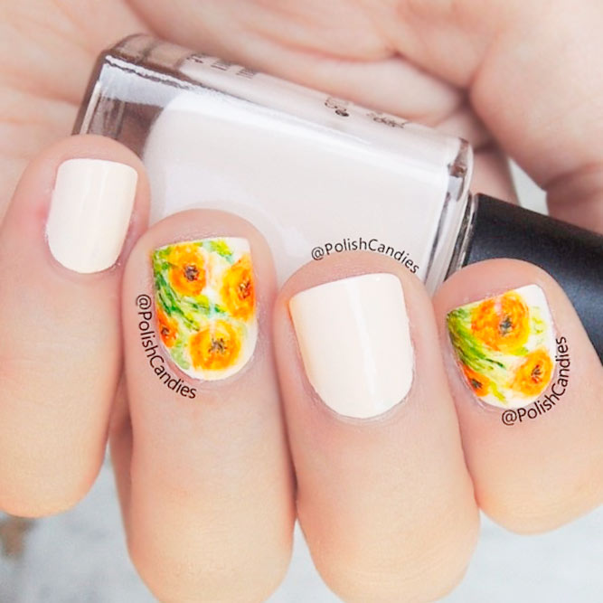 Sweety Floral Design fo Cute Nails