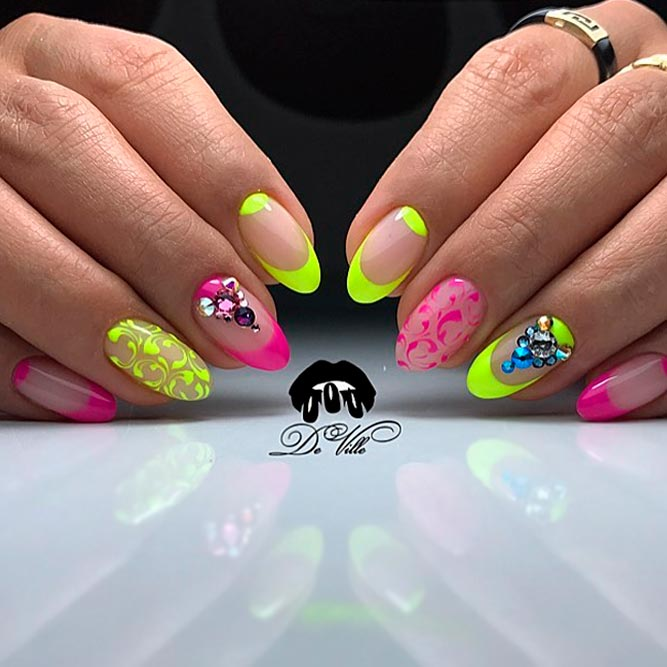 Colored French Tip Nail Designs picture 2