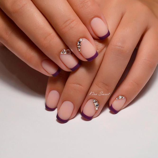 French Tip Nails With Matte Polish picture 1