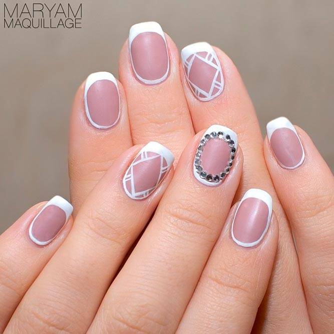 French Tip Nails With Matte Polish picture 3