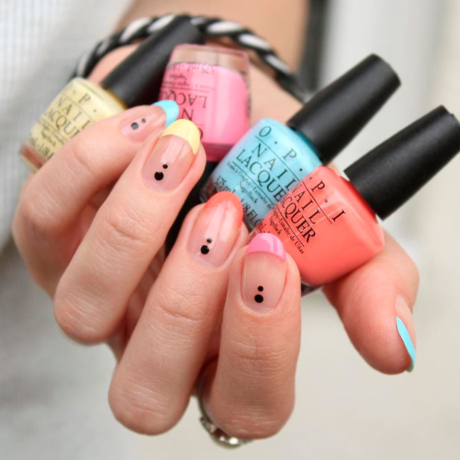 Colored French Tip Nail Designs picture 1