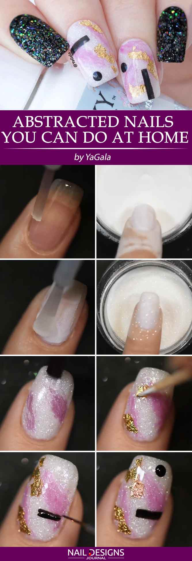 Abstract Nail Art You Can Do At Home #diynails #easynailart