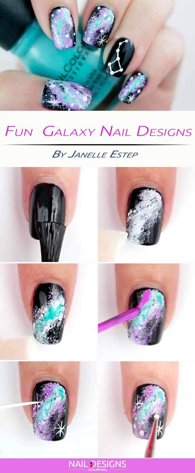 Fun Galaxy Nail Designs