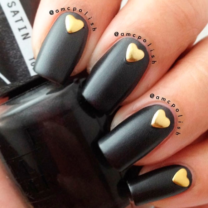 Black and Gold Hearts