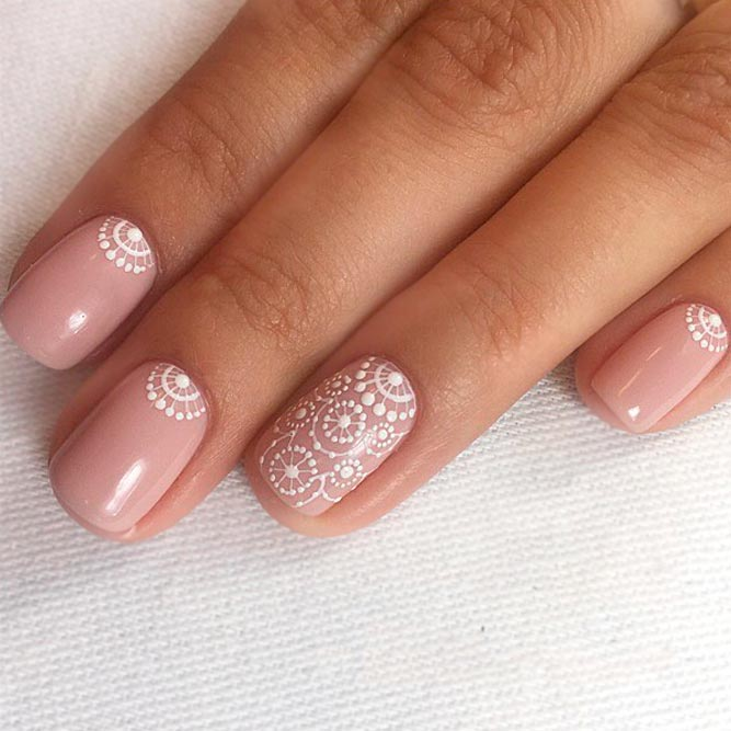Delicate Lace Nails