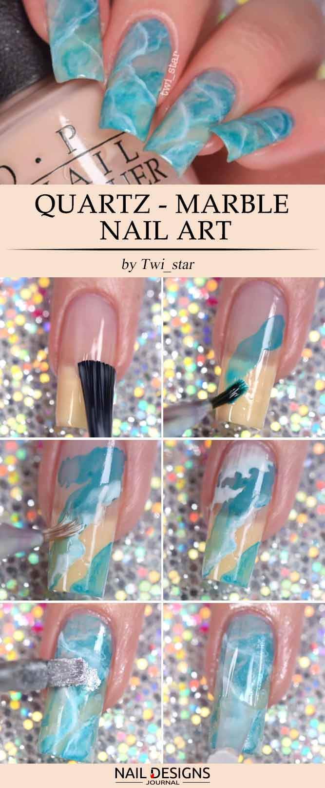 Quartz Marble Nails Art picture 1