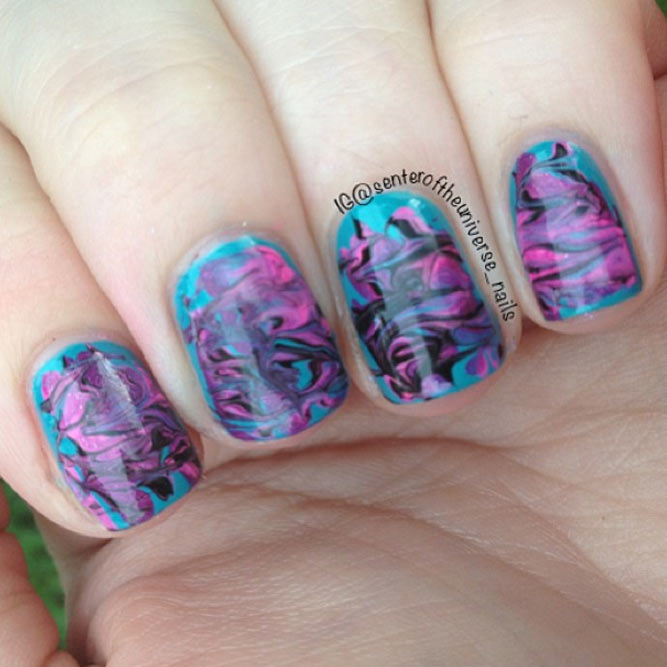 Easy Water Marble Nails without Water picture 3