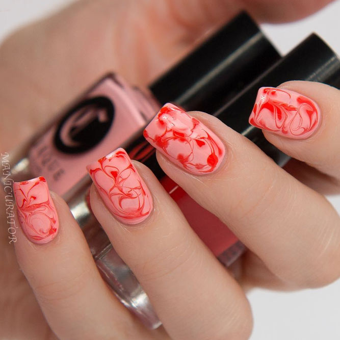 Easy Water Marble Nails without Water picture 2