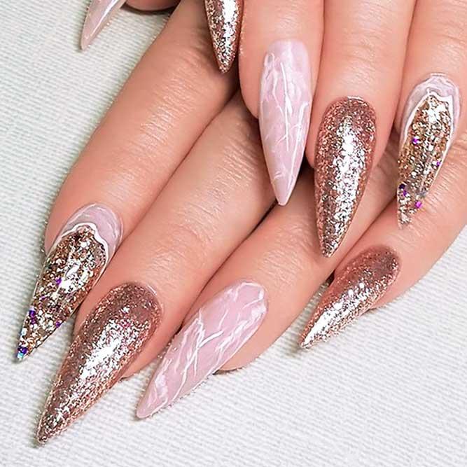 Quartz Marble Nails Art picture 2