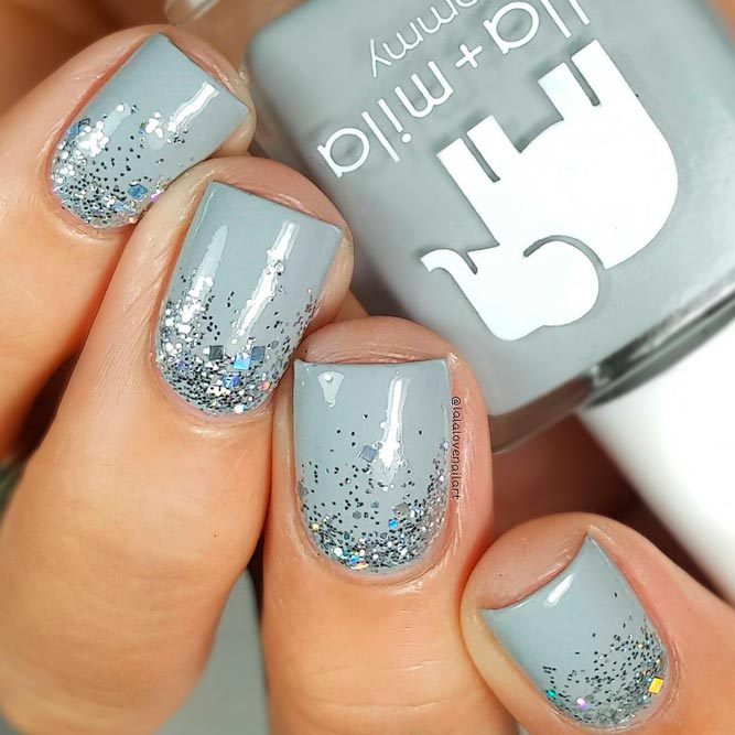 Ombre Glitter Nails Art Ideas picture 1