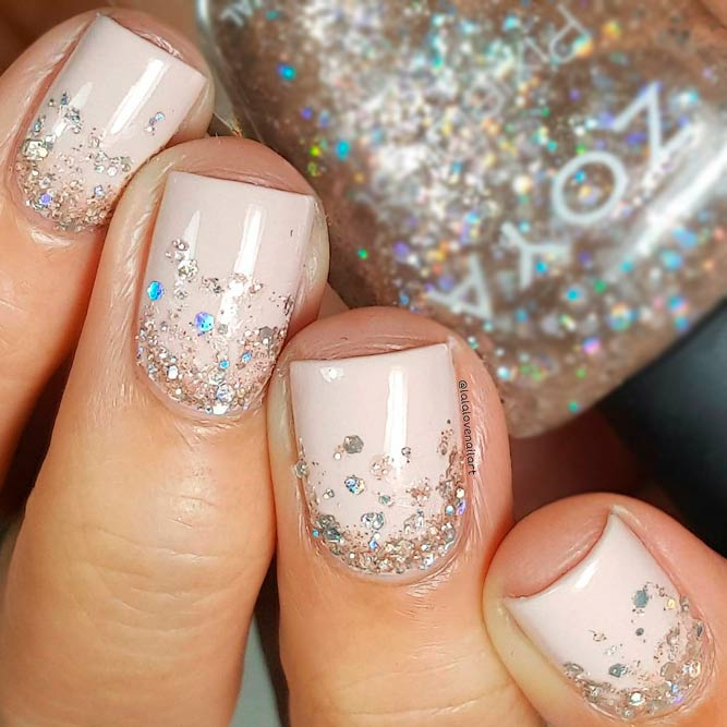 Ombre Glitter in Nude Nails picture 1
