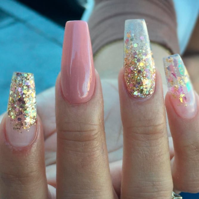 Ombre Glitter Nails Designs in Pink picture 1