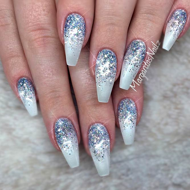 Freshest Ombre Glitter Nails Ideas | NailDesignsJournal.com