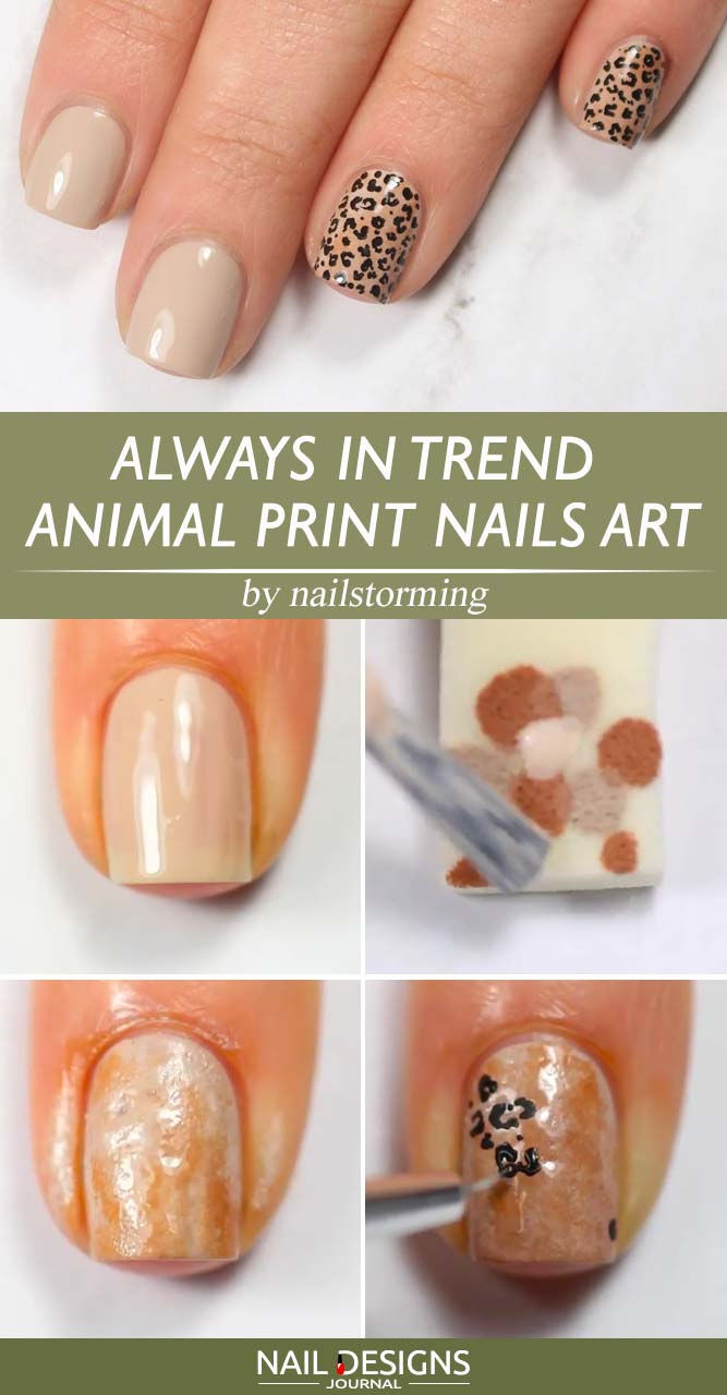 Always In Trend Animal Print Nails Art