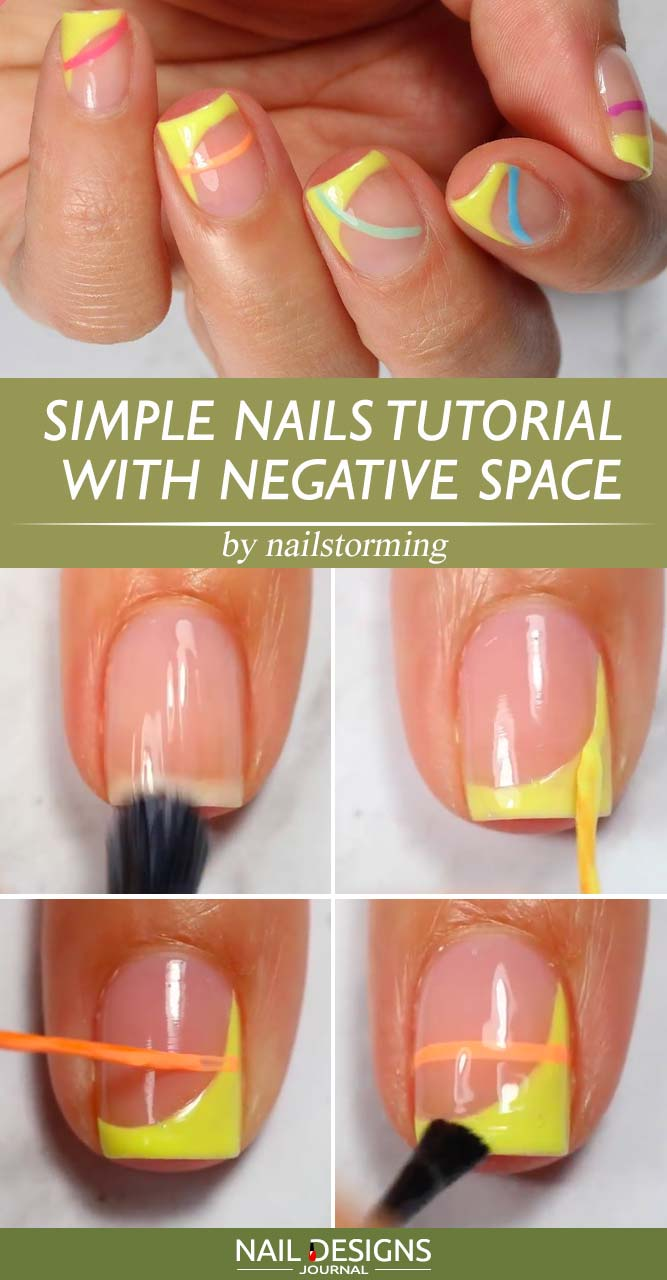 Simple Nails Tutorial With Negative Space