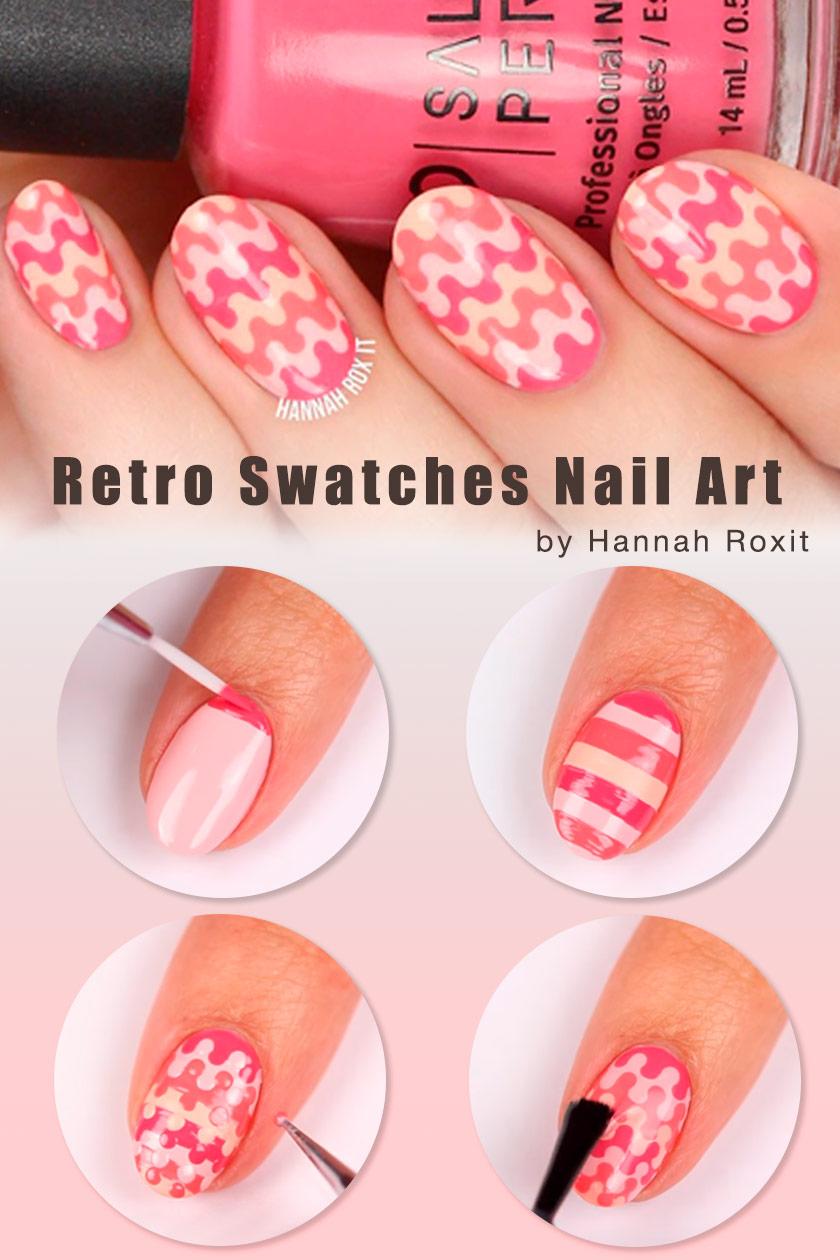 Retro Swatches Nail Art #easynails #nailtutorial