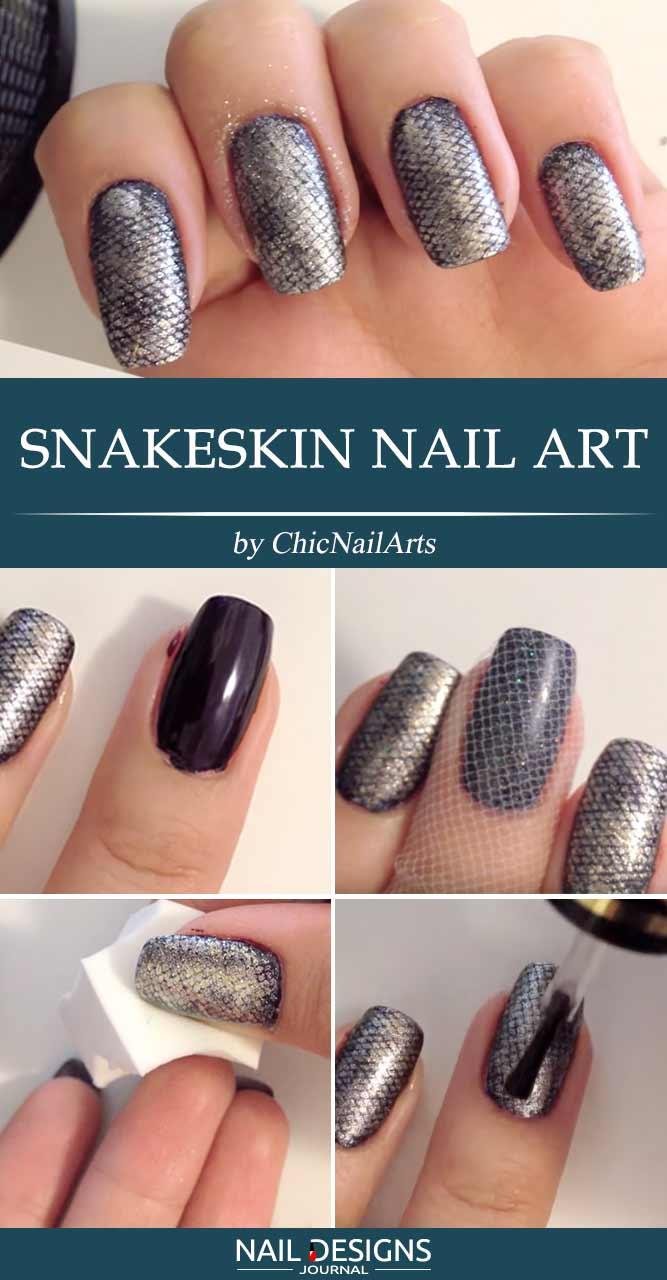 Snakeskin Nail Art