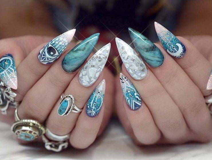 Stiletto nails archives page 3 of 3 nail designs 27 glamorous stiletto nail designs youll adore prinsesfo Images