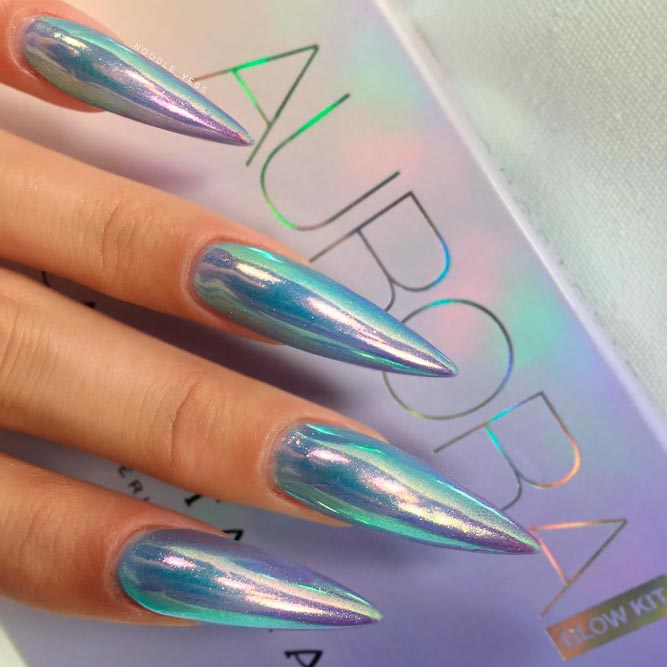Long Acrylic Stiletto Nails picture 1